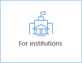 Icon with text: For institutions